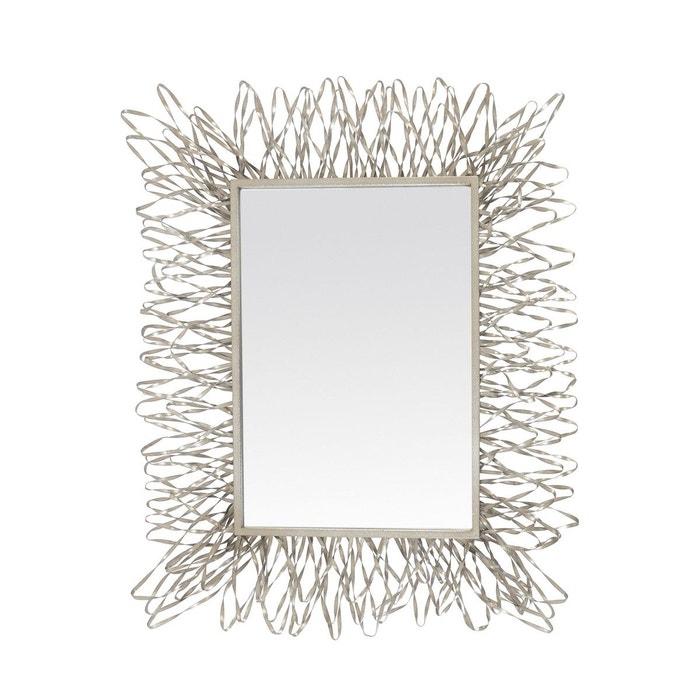 Miroir filaire argent argent emde premium la redoute for Miroir emde deco