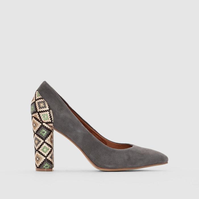Image Escarpins cuir motifs ethniques La Redoute Collections