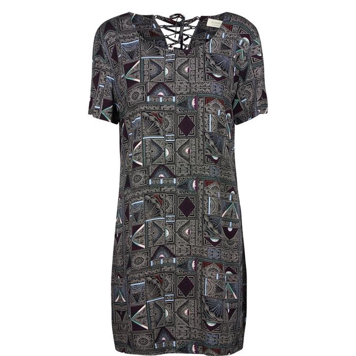 Komelia Printed Dress with Lace-Up Back  NUMPH image 0