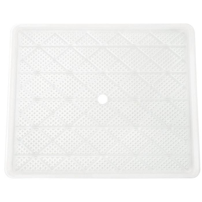 plateau en plastique avec petits trous pour sedona combo blanc tribest la redoute. Black Bedroom Furniture Sets. Home Design Ideas
