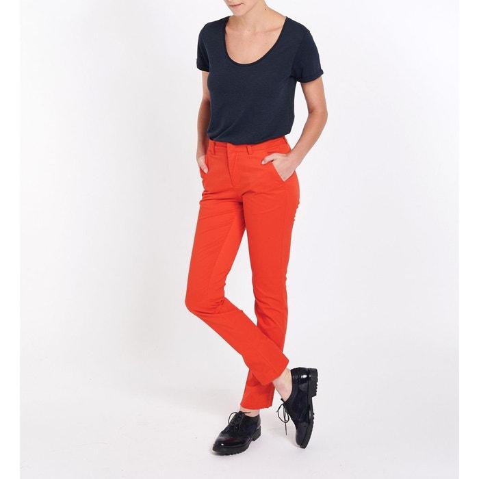 Droit Redoute Lino La Galeries Pantalon Chino Lafayette PSwqx0H