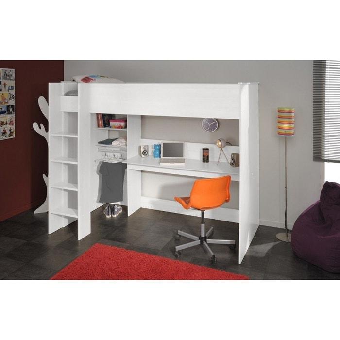 lit enfant mezzanine 90x200 blanc meg ve blanc terre de nuit la redoute. Black Bedroom Furniture Sets. Home Design Ideas