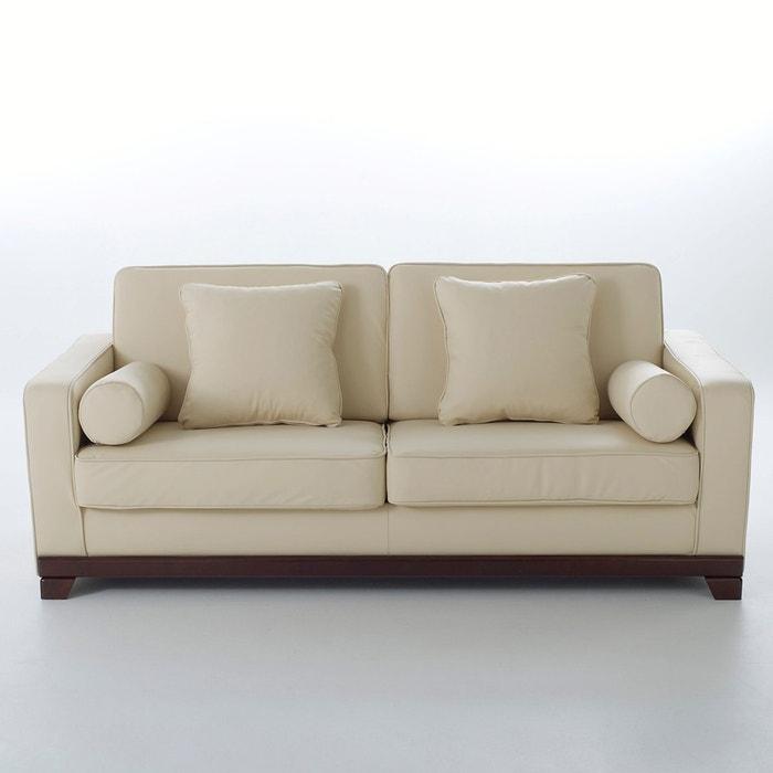 Image Canapé 2 ou 3 places, fixe, confort supérieur, cuir véritable, Edwin La Redoute Interieurs
