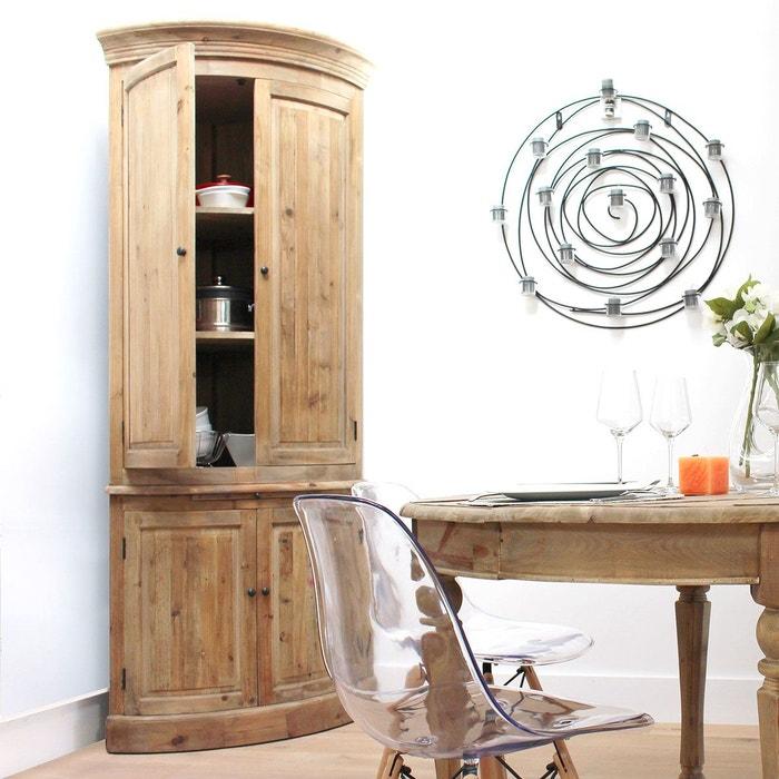 buffet d 39 angle en pin massif recycl 4 portes 3 tag res. Black Bedroom Furniture Sets. Home Design Ideas