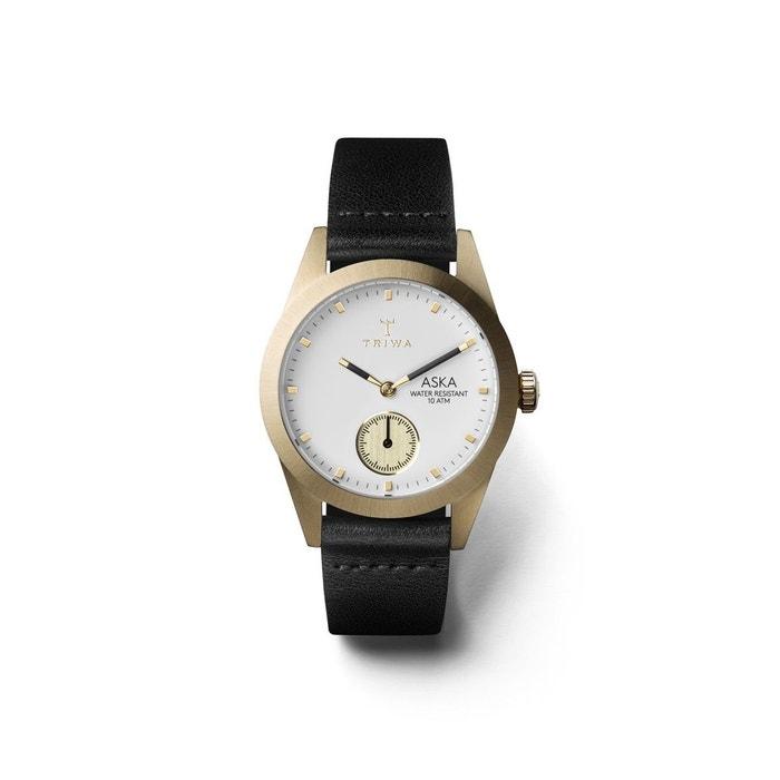 Montre femme analogique bracelet cuir tannage végétal boitier 32 mm aska blanc Triwa   La Redoute 100% Authentique Le Plus Grand Fournisseur De Sortie e1AOpBBd