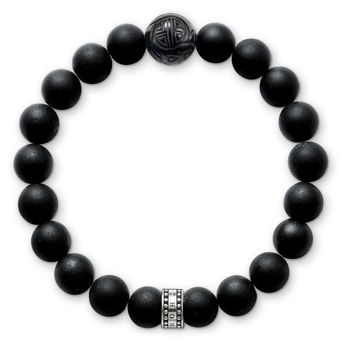 Bracelet obsidienne argenté/noir Thomas Sabo   La Redoute Acheter Pas Cher Marque Nouvelle Unisexe Payer Avec Paypal En Ligne 2eMv8l9Wue