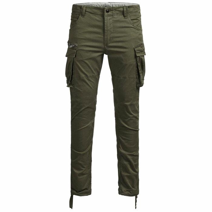 Pantalon battle paul chop vert kaki Jack   Jones   La Redoute 91869ff5134d