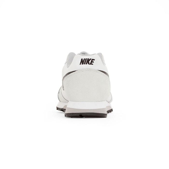 Baskets basses à lacets, cuir et toile, md runner beige / blanc Nike