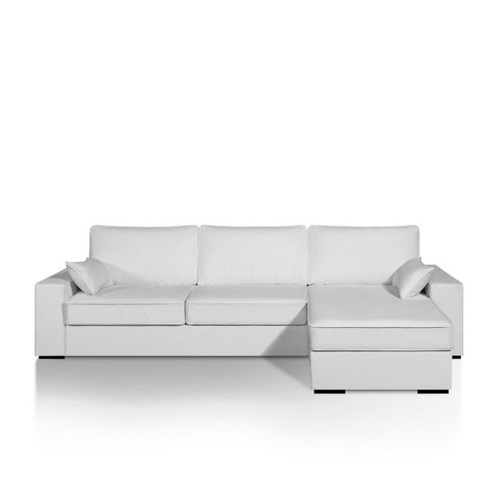afbeelding Hoek canapé-bed Cécilia, express slaapzone, leer aspect La Redoute Interieurs