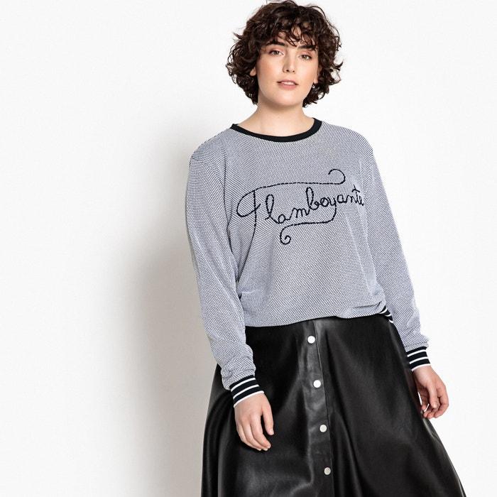 Embroidered Slogan Cotton T-Shirt  CASTALUNA image 0
