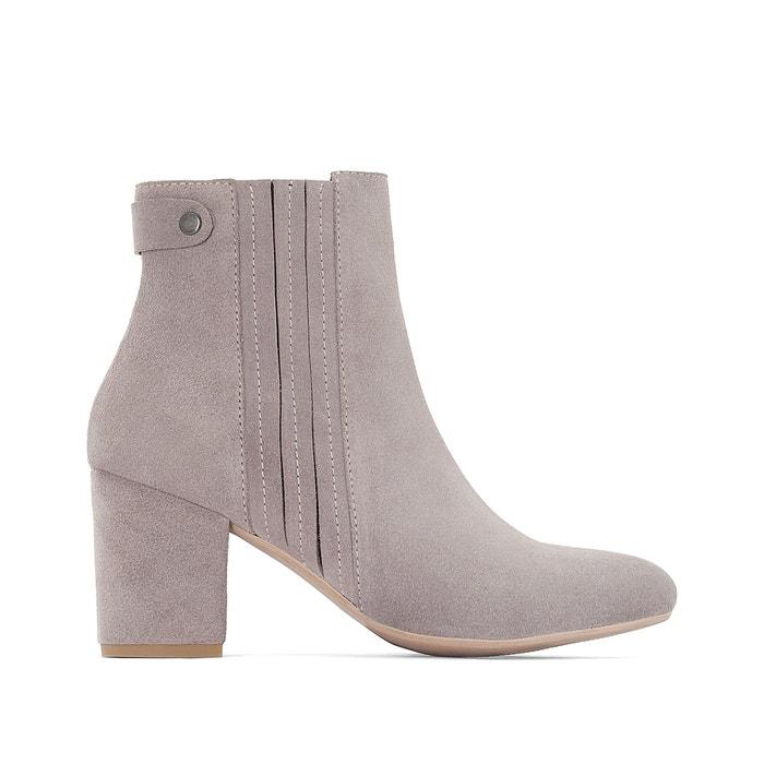 afbeelding Boots in onbewerkt leer, brede voet, 38-45 CASTALUNA