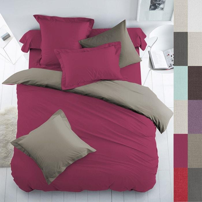Housse de couette coton bicolore scenario la redoute - La redoute housse de couette bicolore ...