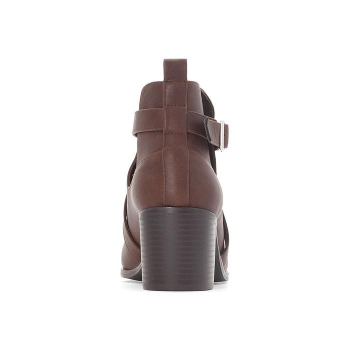 Boots ajourées à talon pied large 38-45 Castaluna
