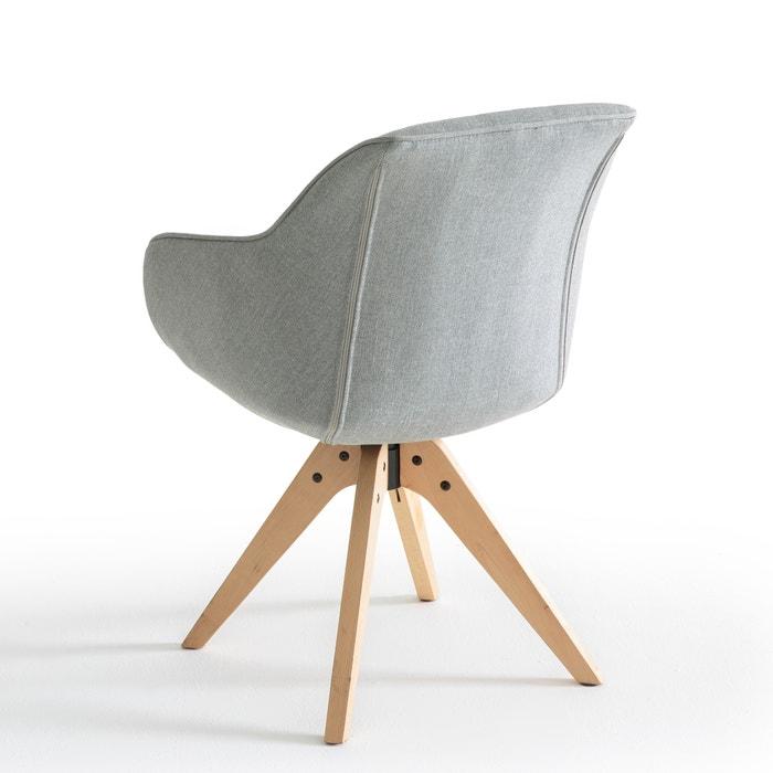 fauteuil de bureau rotatif jimi la redoute interieurs gris clair la redoute. Black Bedroom Furniture Sets. Home Design Ideas