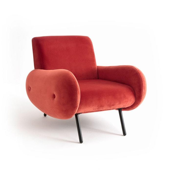 fauteuil velours vintage watford rouille la redoute interieurs la redoute. Black Bedroom Furniture Sets. Home Design Ideas
