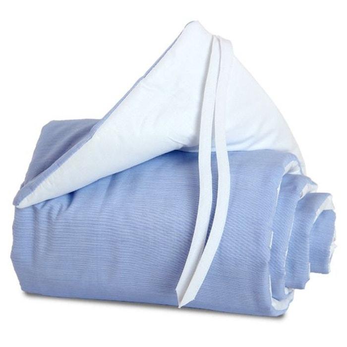Tour de lit Coton pour berceaux Cododo Babybay Midi Mini Bleu
