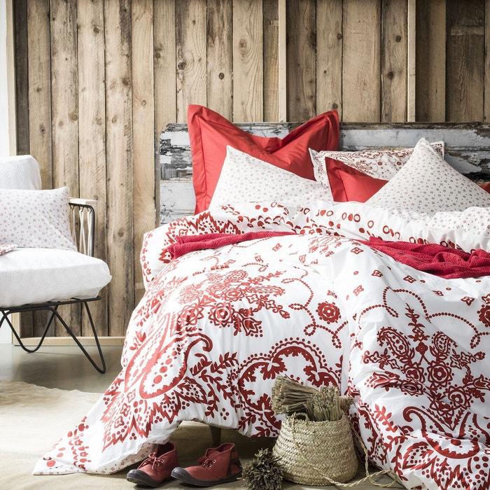bensimon x housse de couette bandana en percale de coton sienne sienne essix la redoute. Black Bedroom Furniture Sets. Home Design Ideas
