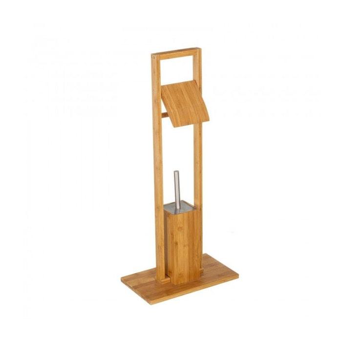 d rouleur papier toilette brosse wc en bambou bois wadiga la redoute. Black Bedroom Furniture Sets. Home Design Ideas