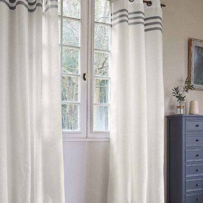 voilage avec trois rayures horizontales home maison la redoute. Black Bedroom Furniture Sets. Home Design Ideas