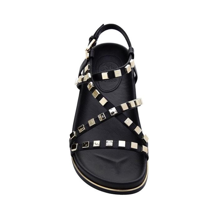 Sandales clareta clous noir Guess