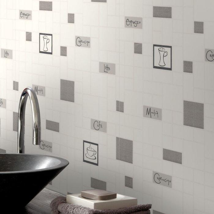 papier peint cuisine et salle de bain cafe culture gris 52. Black Bedroom Furniture Sets. Home Design Ideas