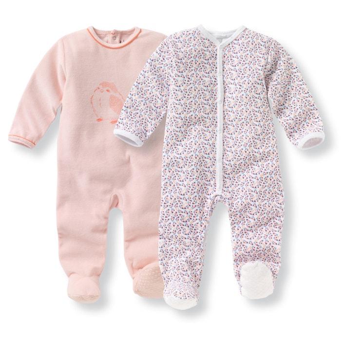 Imagen de Lote de 2 pijamas para recién nacido de terciopelo 0 meses - 3 años La Redoute Collections