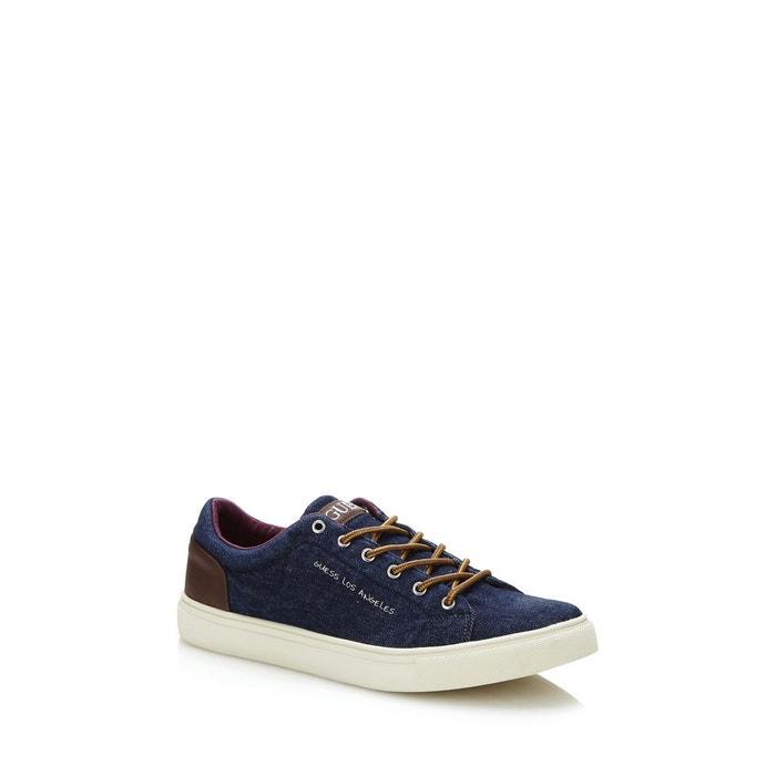 Sneaker luiss tissu bleu Guess