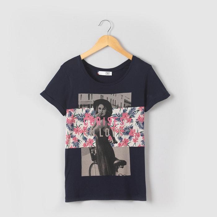 """afbeelding T-shirt met """"dame"""" fotoprint LE TEMPS DES CERISES"""