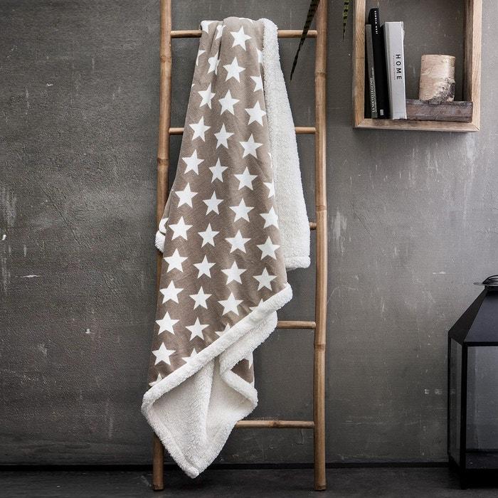 plaid fausse fourrure sherpa star beige i fil home la redoute. Black Bedroom Furniture Sets. Home Design Ideas