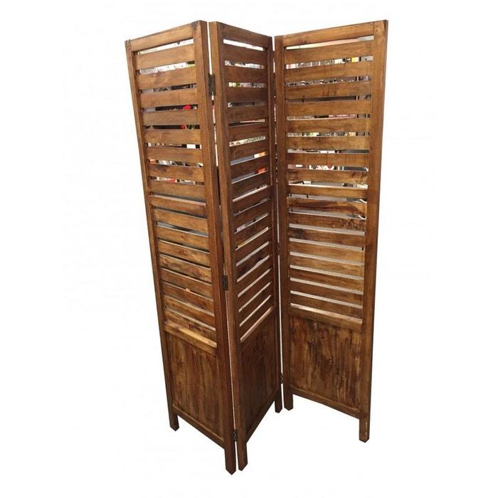 paravent persienne en bois recycl canada bois pier import la redoute. Black Bedroom Furniture Sets. Home Design Ideas
