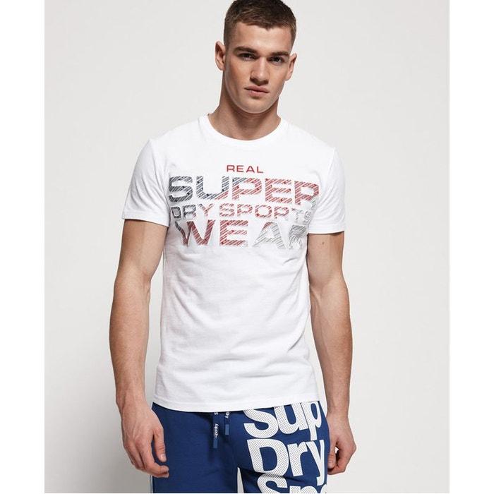 T-shirt de sport à imprimé en relief Superdry  18c8da70da1