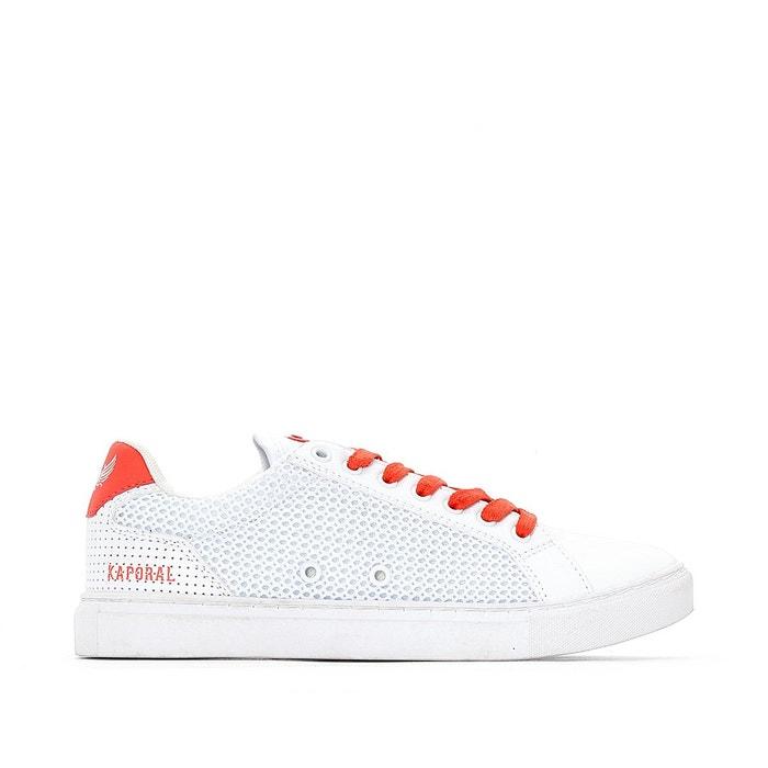 Baskets krisla blanc/orange Kaporal