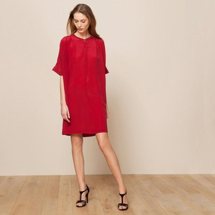 robe soie rouge pomandere la redoute. Black Bedroom Furniture Sets. Home Design Ideas