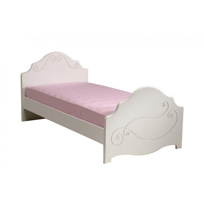 lit enfant 90x190 en bois blanc meg ve lt1005 blanc terre de nuit la redoute. Black Bedroom Furniture Sets. Home Design Ideas