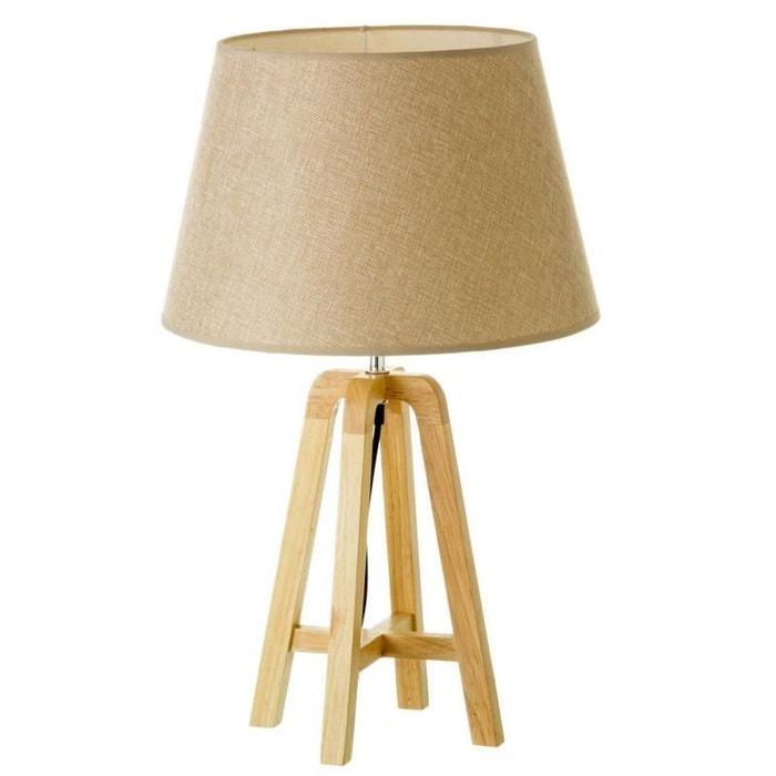 lampe sur pied en bois scandinave beige natacha b la redoute. Black Bedroom Furniture Sets. Home Design Ideas