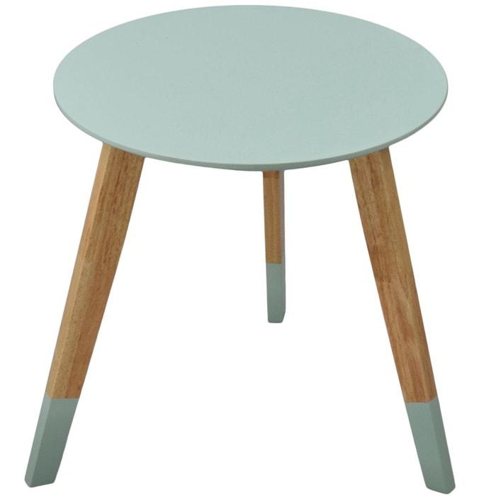 Table ronde scandinave colorama vert amande vert incidence la redoute - Table ronde la redoute ...