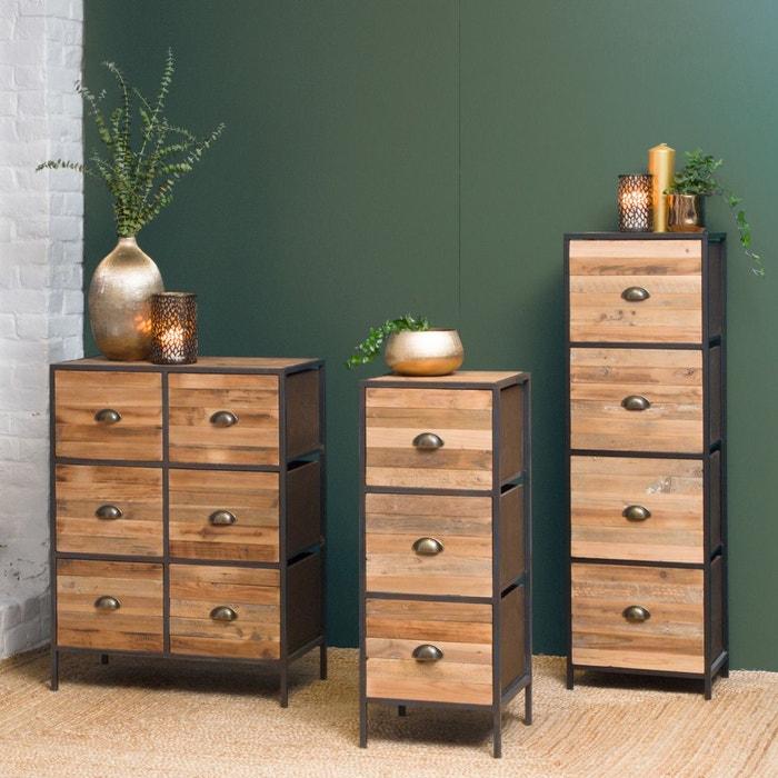 Confiturier industriel 3 tiroirs poign es coquille kc33 bois made in meubles la redoute - Meuble lingere rangement ...