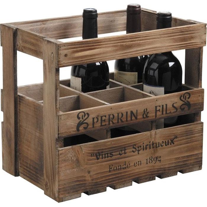 caisse en bois pour bouteilles de vin marron aubry gaspard la redoute. Black Bedroom Furniture Sets. Home Design Ideas