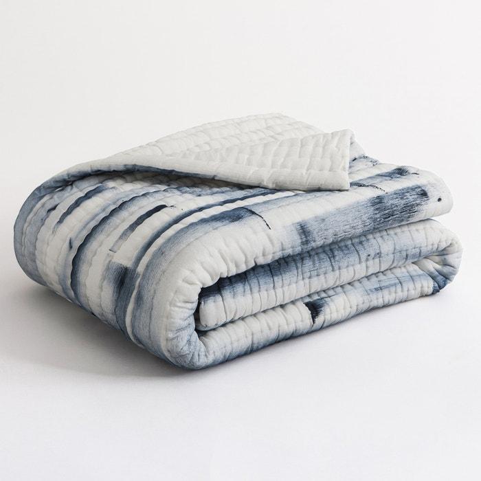 boutis voile de coton mugnaro cru bleu am pm la redoute. Black Bedroom Furniture Sets. Home Design Ideas
