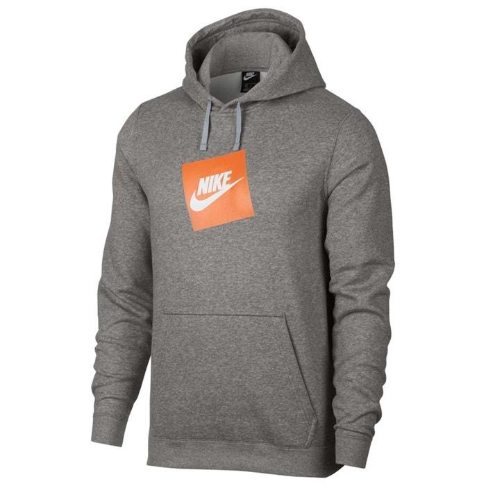 Sweat à capuche gris chiné Nike   La Redoute 47ff5f2a6381