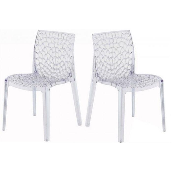 lot de 2 chaises transparentes filet transparent declikdeco la redoute. Black Bedroom Furniture Sets. Home Design Ideas