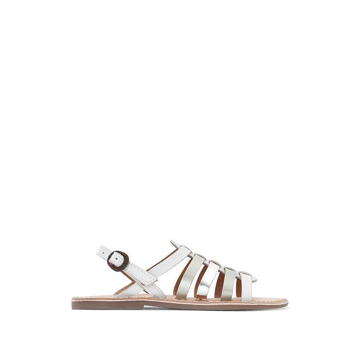 655f4c67089a35 Sandales cuir dixmillion blanc /argent Kickers | La Redoute