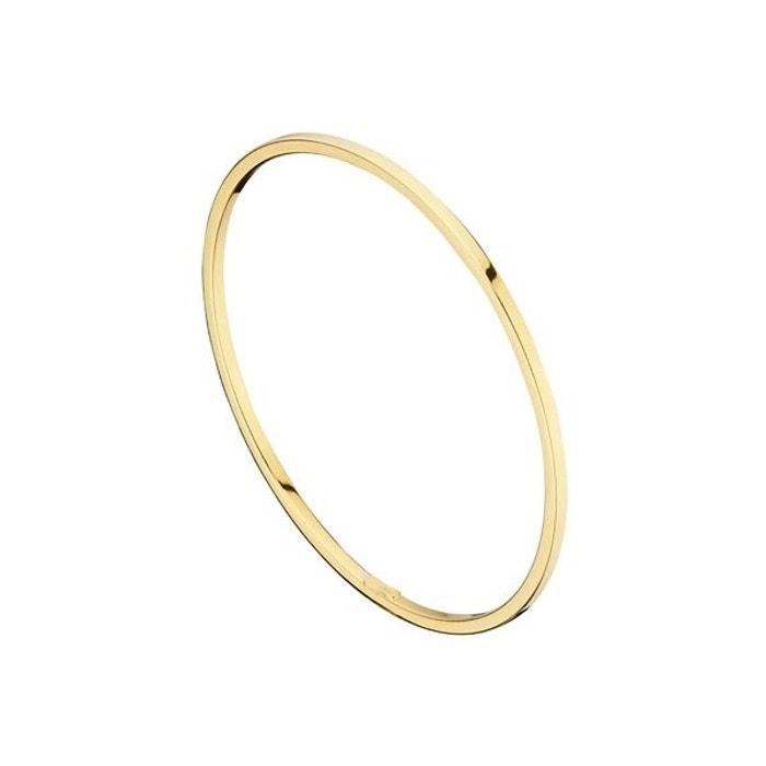 Bracelet jonc en argent 925, dorure or 18k, 5.7g, ø65mm or Clio Blue | La Redoute