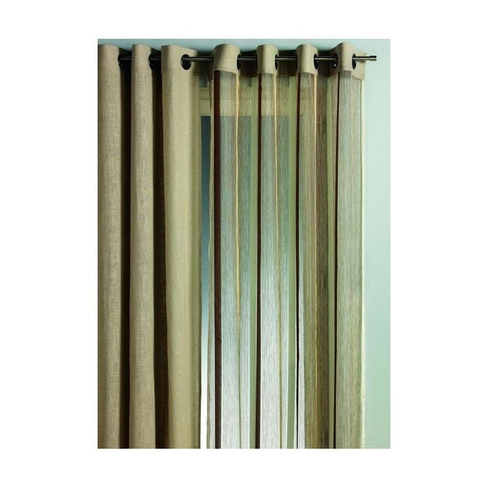 Rideau en organza rayures verticales Home Maison | La Redoute