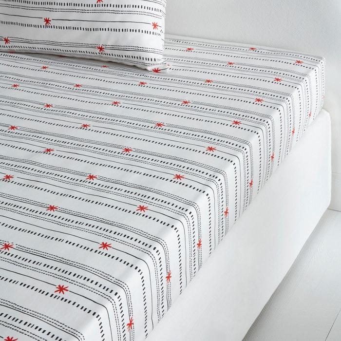 Lençol-capa, percal de algodão, Meknes La Redoute Interieurs