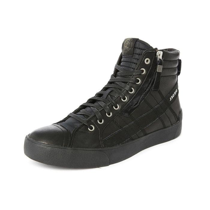 Baskets hautes noires d-string plus pour homme noir Diesel