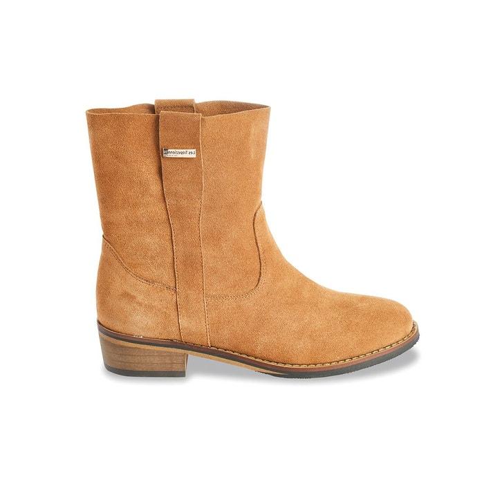 Boots cuir curcuma Les Tropeziennes Par M Belarbi