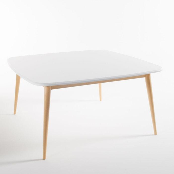 Table carr e 8 personnes jimi blanc la redoute interieurs for Table de 0 6