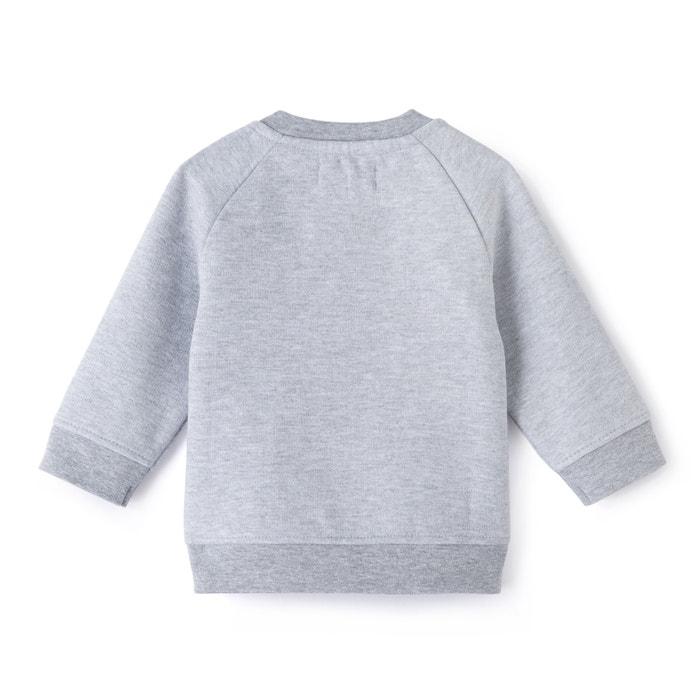 afbeelding Bedrukte sweater in molton 0 mnd-2 jr La Redoute Collections
