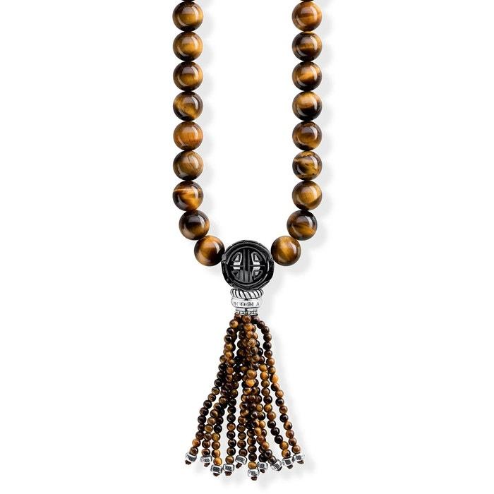 Chaîne power necklace marron argenté, marron, noir Thomas Sabo | La Redoute